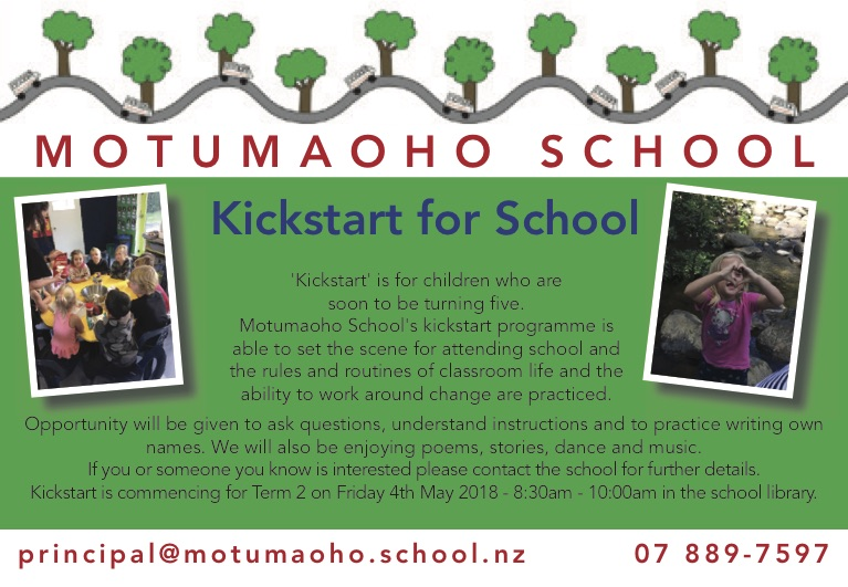 Motumaoho School Kickstart for School